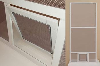 Москитная сетка с рамочной дверцей для кошачьего балкончика