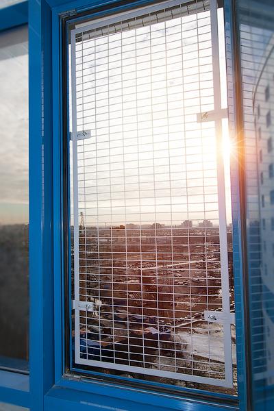 Сетка антикошка на пластиковые окна своими руками