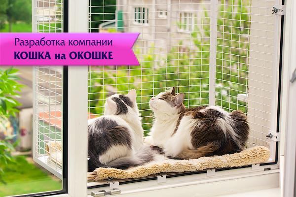 Кошачий балкончик съёмный