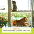 Съёмная полка для кошачьего балкончика